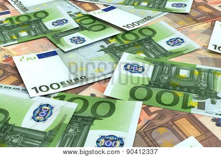Money Background From Many Euro