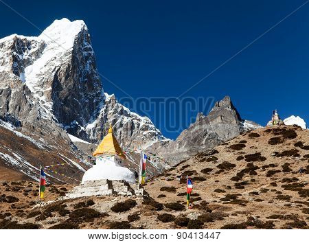Tabuche Peak And Stupa On The Way To Everest Base Camp