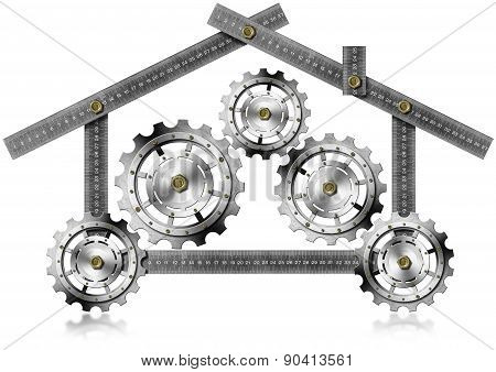 House With Gears - Metallic Meter