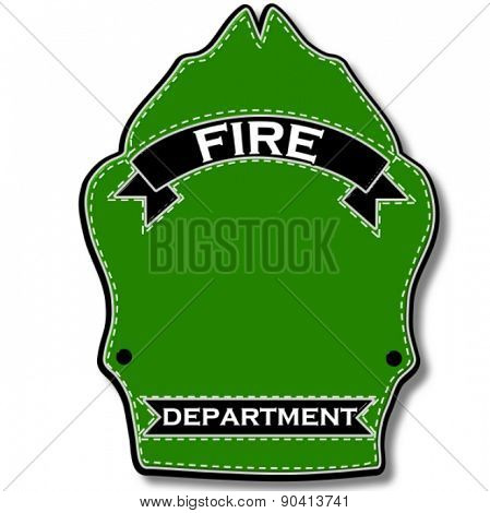 Classic Firefighter's Helmet Front Shield