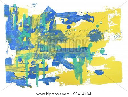 abstract art background hand drawn rough brush stroke painting