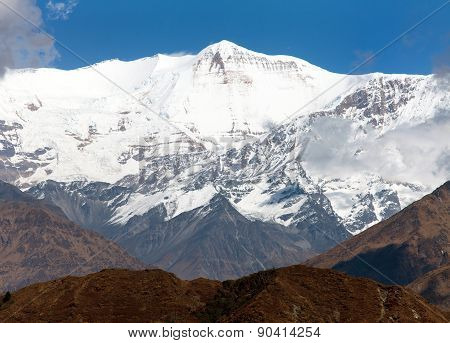 Churen Himal (7371 M) Part Of Dhaulagiri Himal