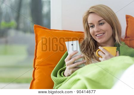 Beautiful Woman With Mobile Phone