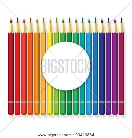 flat vector multicolored colorful paint pencils