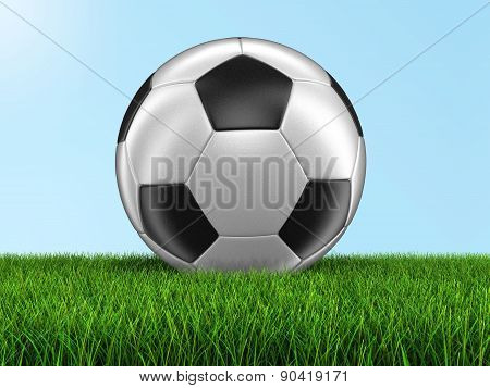 Soccerball on grass (clipping path included)