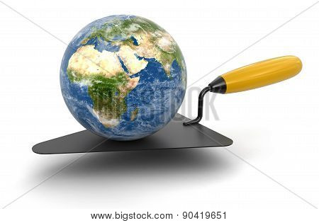 Globe and Trowel (clipping path included)