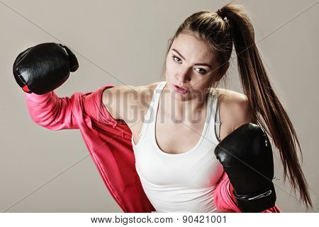 Feminist Woman Training, Boxing.
