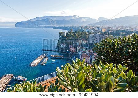 Picturesque Morning View Of Sorrento City, Italy