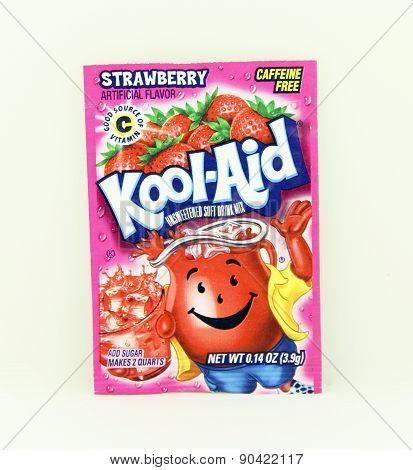 Package Of Strawberry Flavored Kool-aid
