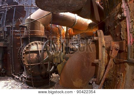 Bowels Of Rusting Industrial Site