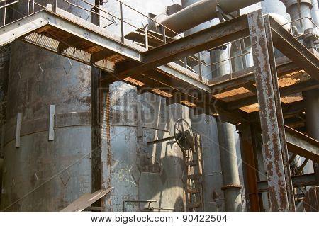 Rusting Industrial Tank