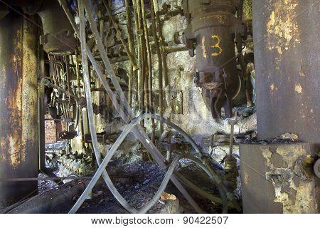 Rusting Steel Industrial Equipment