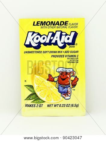 Package Of Lemonade Flavored Kool-aid