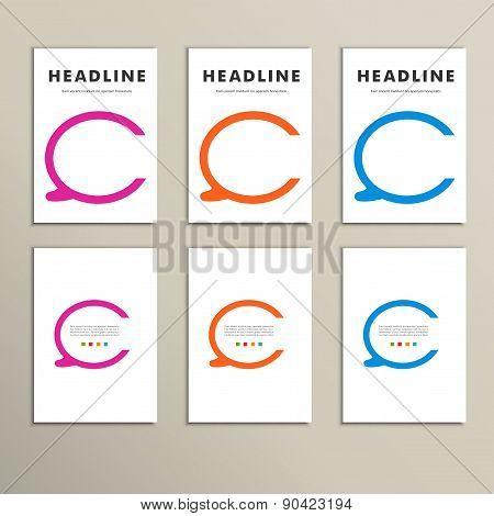 Set of four colorful vector speech bubbles