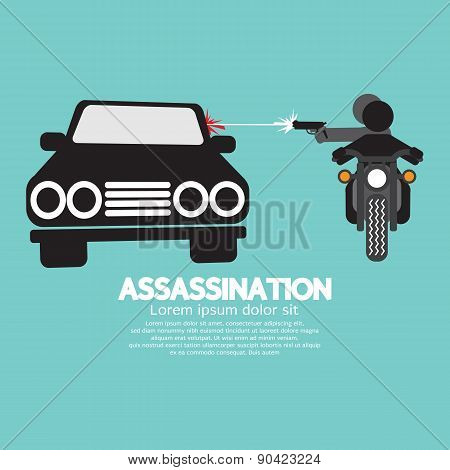 Assassination Shooting From The Motorcycle.