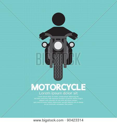 Man Riding A Motorcycles Symbol.