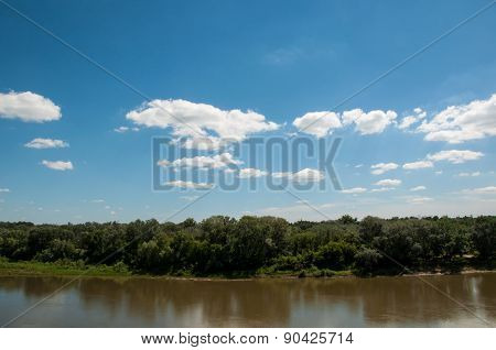 The Ural River Is The Natural Boundary Between Europe And Asia