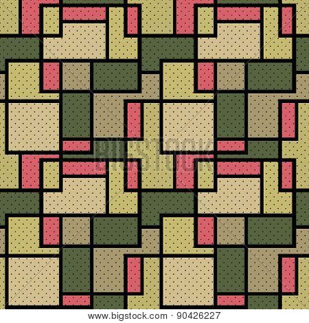 Seamless retro checkered plaid pattern
