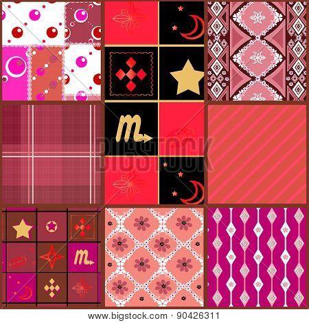 Seamless geometric pattern patchwork background