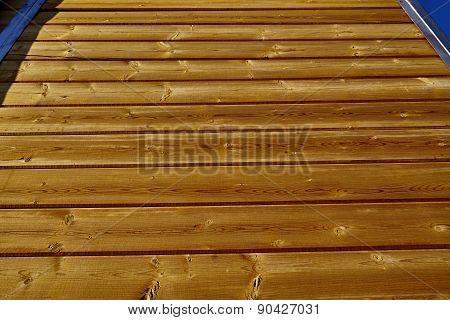 Wood Pine Board Wall