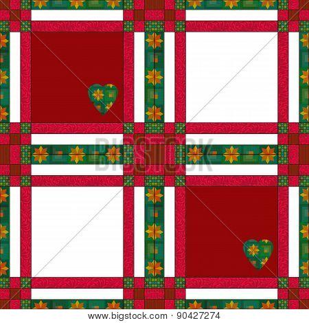 Seamless pattern patchwork texture background