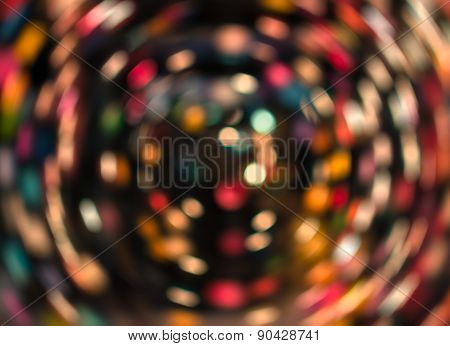 Colorful Spin Bokeh Background