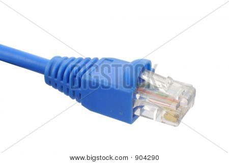 Rj45 Cable On Pure White Background