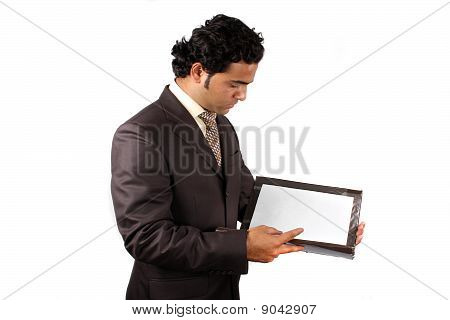 Businessman Checking Documents