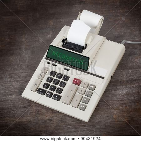 Old Calculator - Accounting