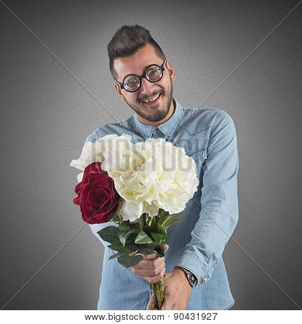 Nerd flowers bouquet