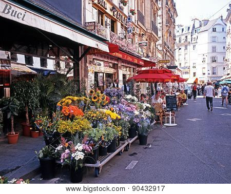 Flower stalls, Paris.