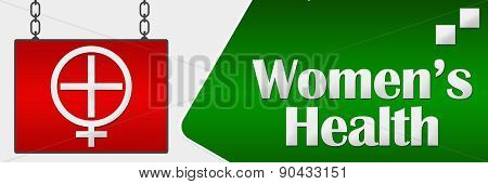 Womens Health Signboard Horizontal