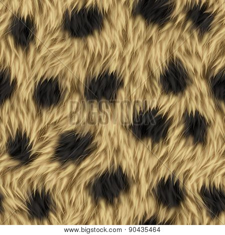 Seamless Leopard Animal Fur Background