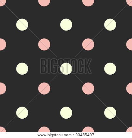 Seamless polka dot pattern. Vector illustration. Retro style background