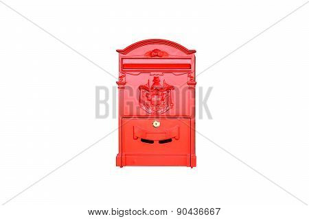 Red Vintage Post Box Isolated
