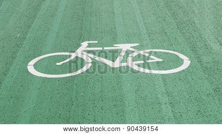 White Bicycles On Lane