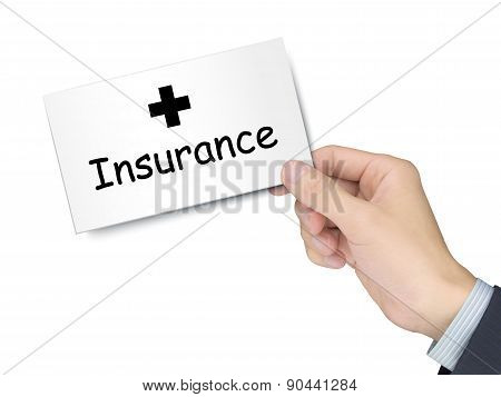 Insurance Card In Hand