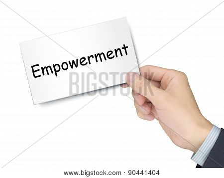 Empowerment Card In Hand
