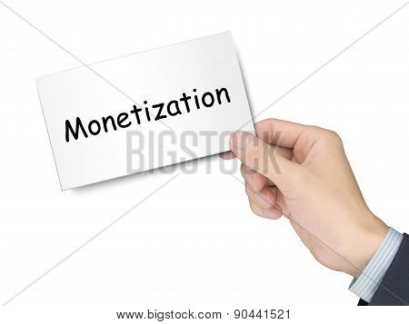 Monetization Card In Hand