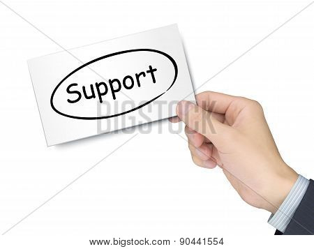 Support Card In Hand