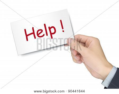 Help Card In Hand