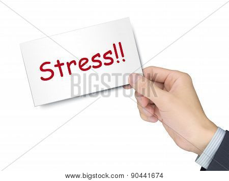 Stress Card In Hand