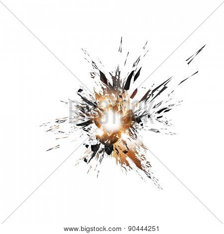 explosion background, easy all editable