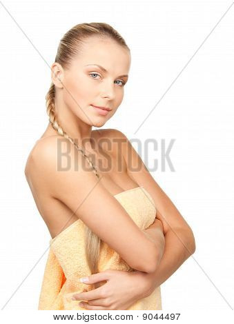 Lovely Woman In Towel