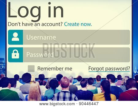 Log in Password Identity Internet Online Privacy Protection Concept