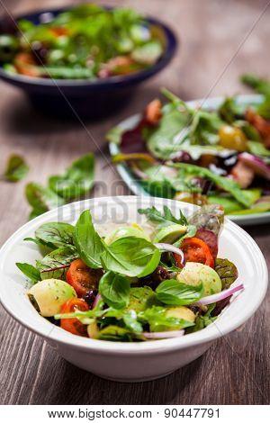 Assortment of  fresh veggie salads