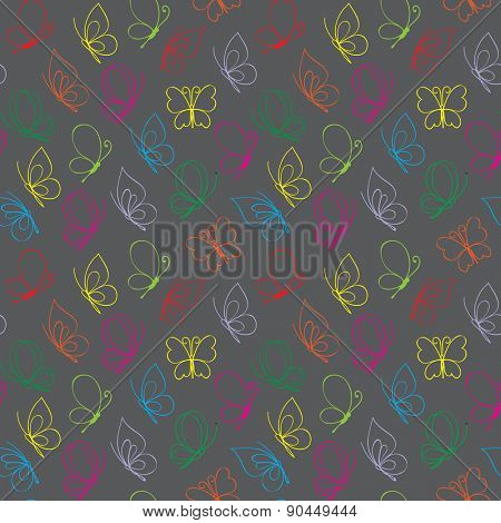 Vector bright butterfly pattern