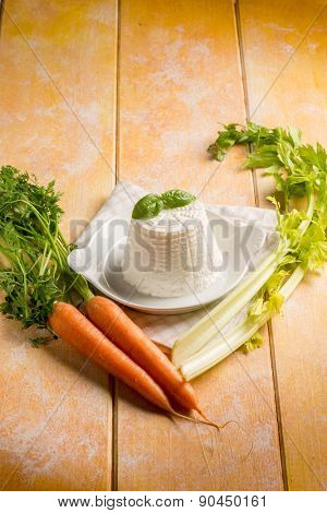 ricotta with carrots and celery