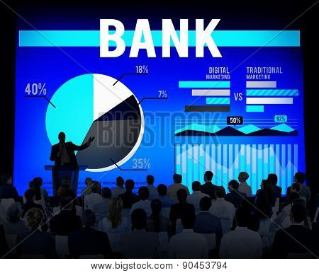 Bank Banking Budge Stock Market Finance Business Concept