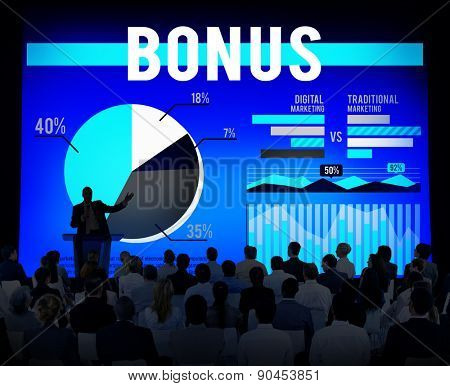 Bonus Gain Profit Salary Income Finance Concept